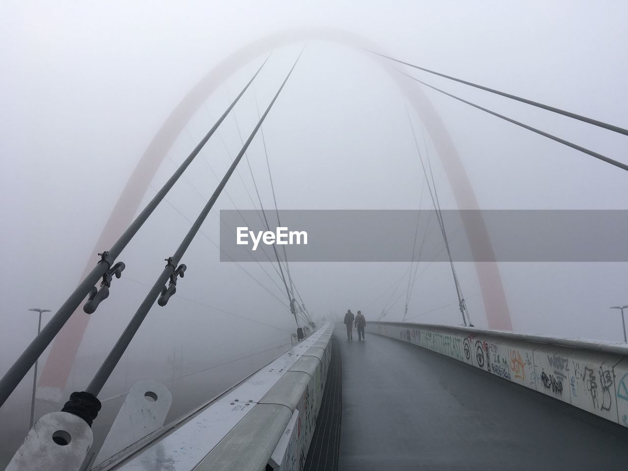transportation, fog, sky, connection, road, nature, bridge, bridge - man made structure, mode of transportation, winter, the way forward, cold temperature, no people, day, land vehicle, built structure, direction, water, diminishing perspective, outdoors