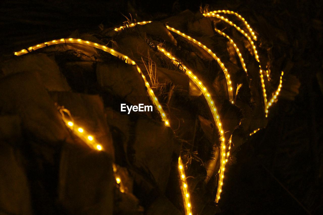 night, illuminated, no people, celebration, lighting equipment, low angle view, outdoors, christmas decoration, close-up