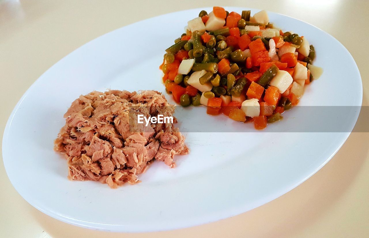plate, food, food and drink, ready-to-eat, serving size, healthy eating, freshness, table, no people, vegetable, indoors, fried rice, close-up, day