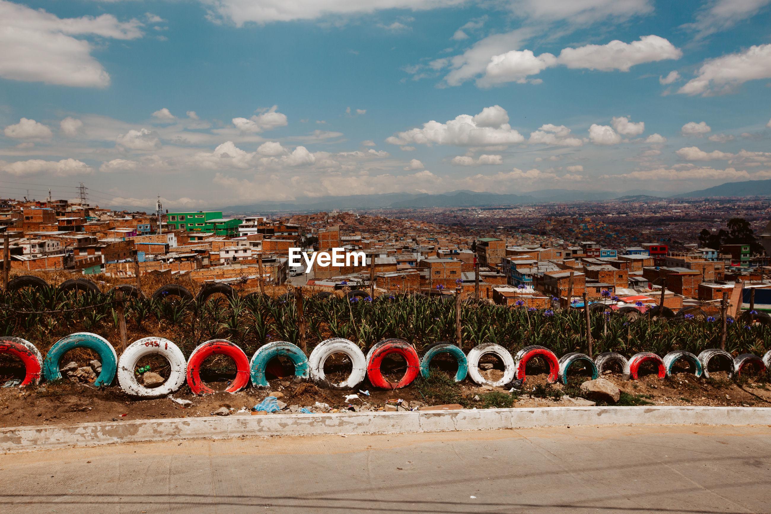 Panoramic shot of townscape against sky ciudad bolivar