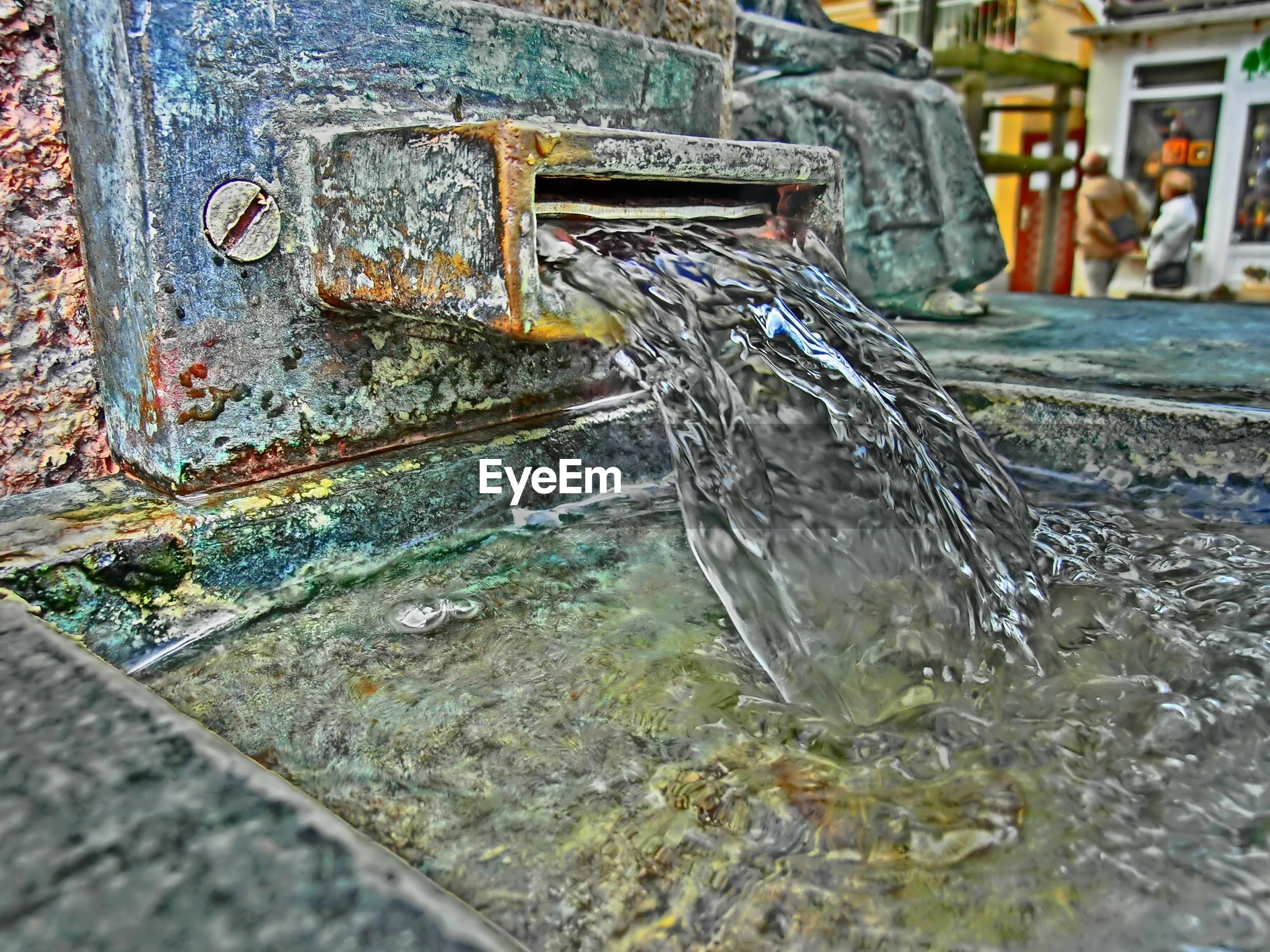 Close-up of rusty fountain