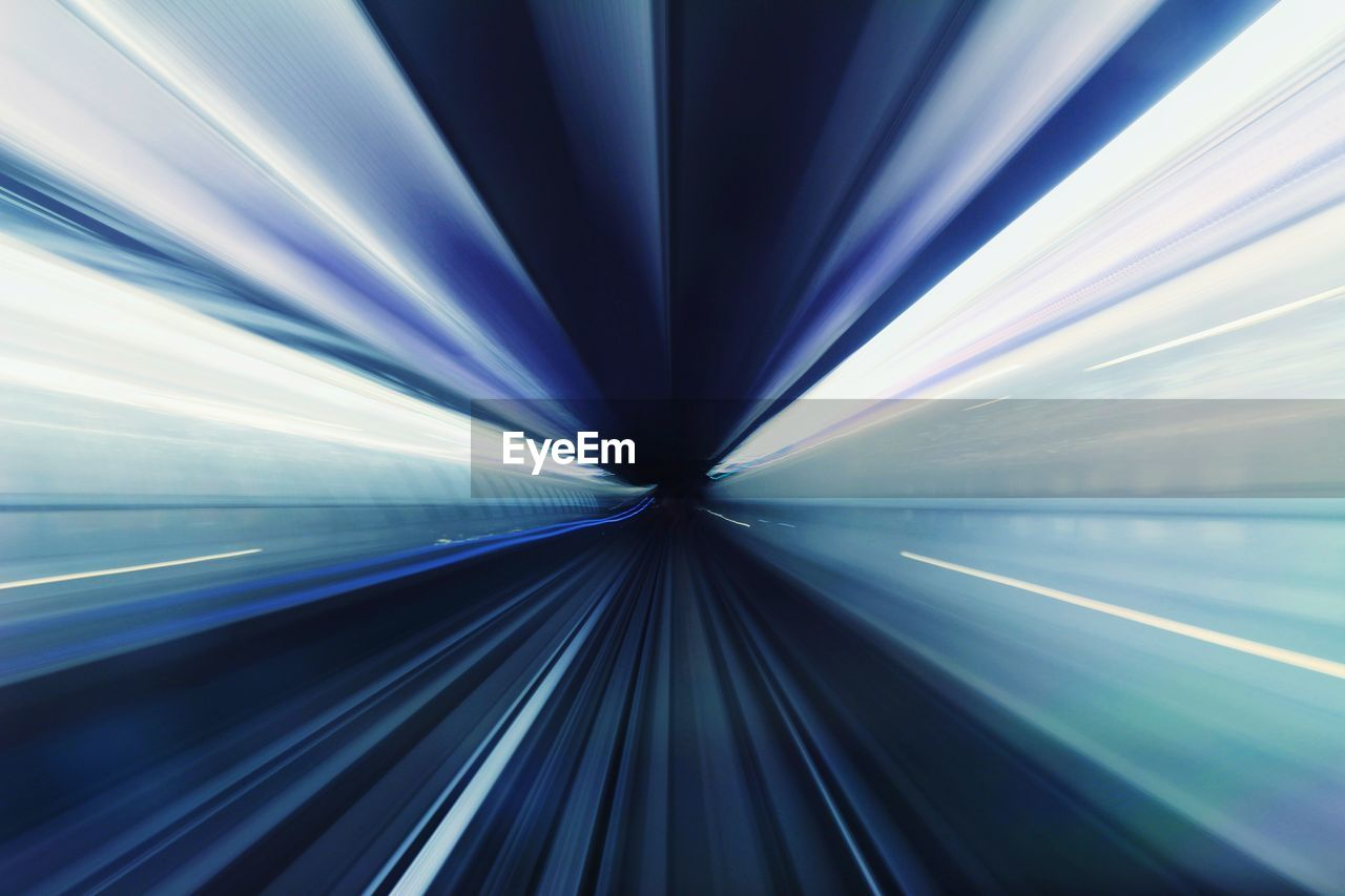 Blurred Motion Of Railroad Track