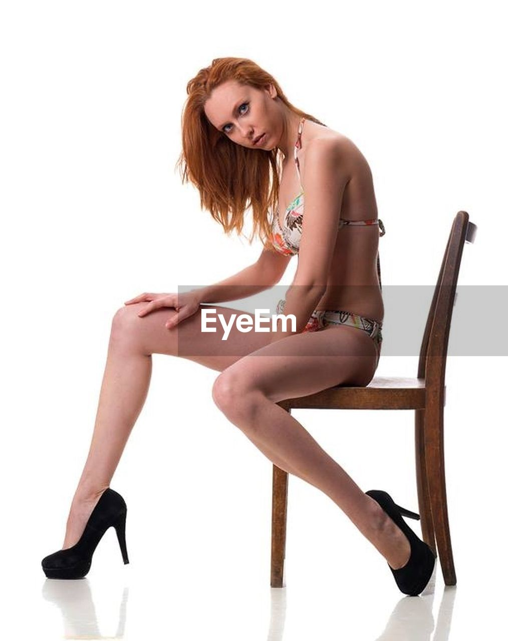 lingerie, limb, white background, sitting, beautiful people, beauty, high heels, human leg, studio shot, beautiful woman, one young woman only, young adult, adult, one person, only women, one woman only, human body part, females, portrait, shoe, young women, full length, people, adults only, women, fashion model