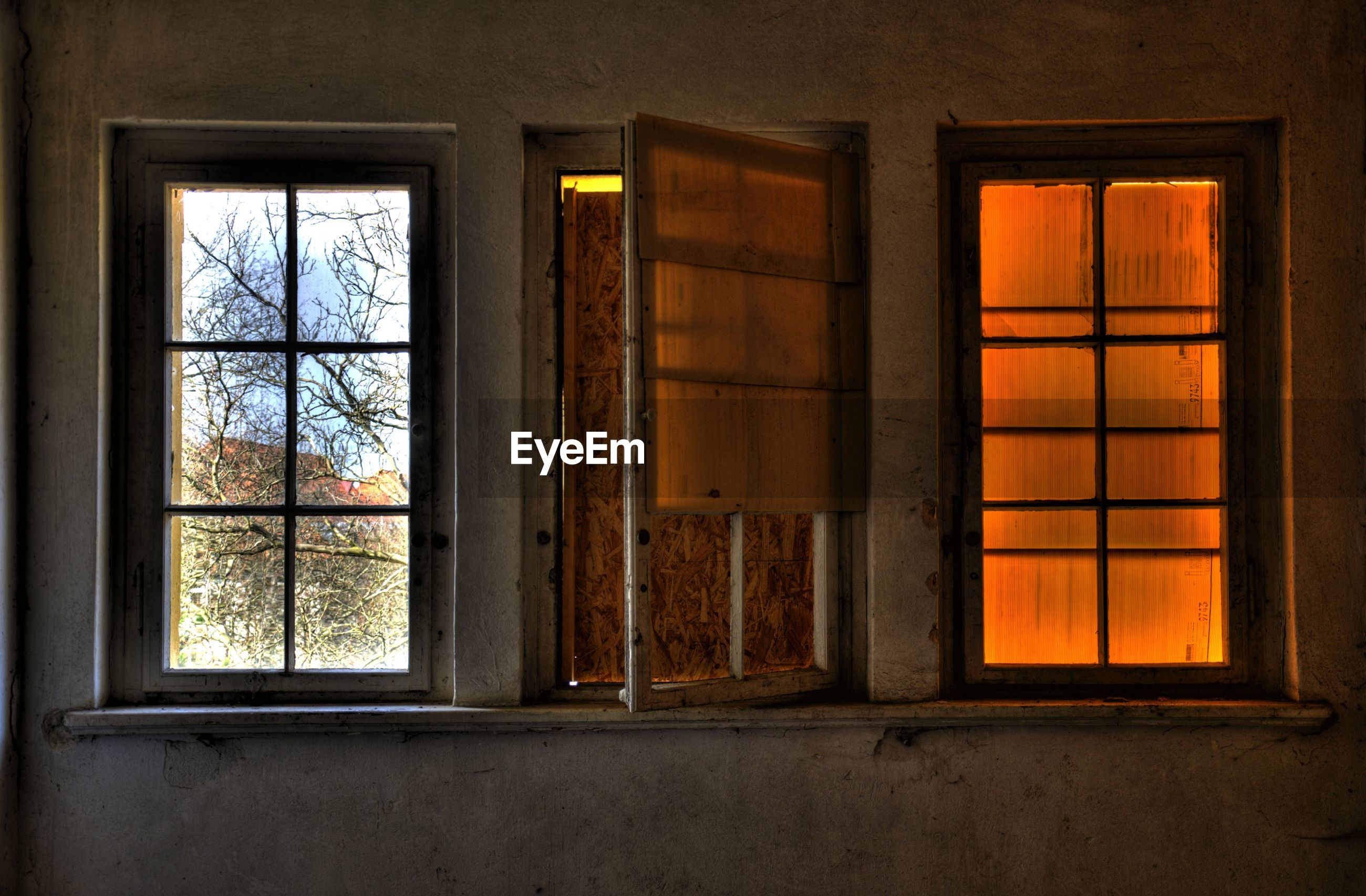 Closed door of house