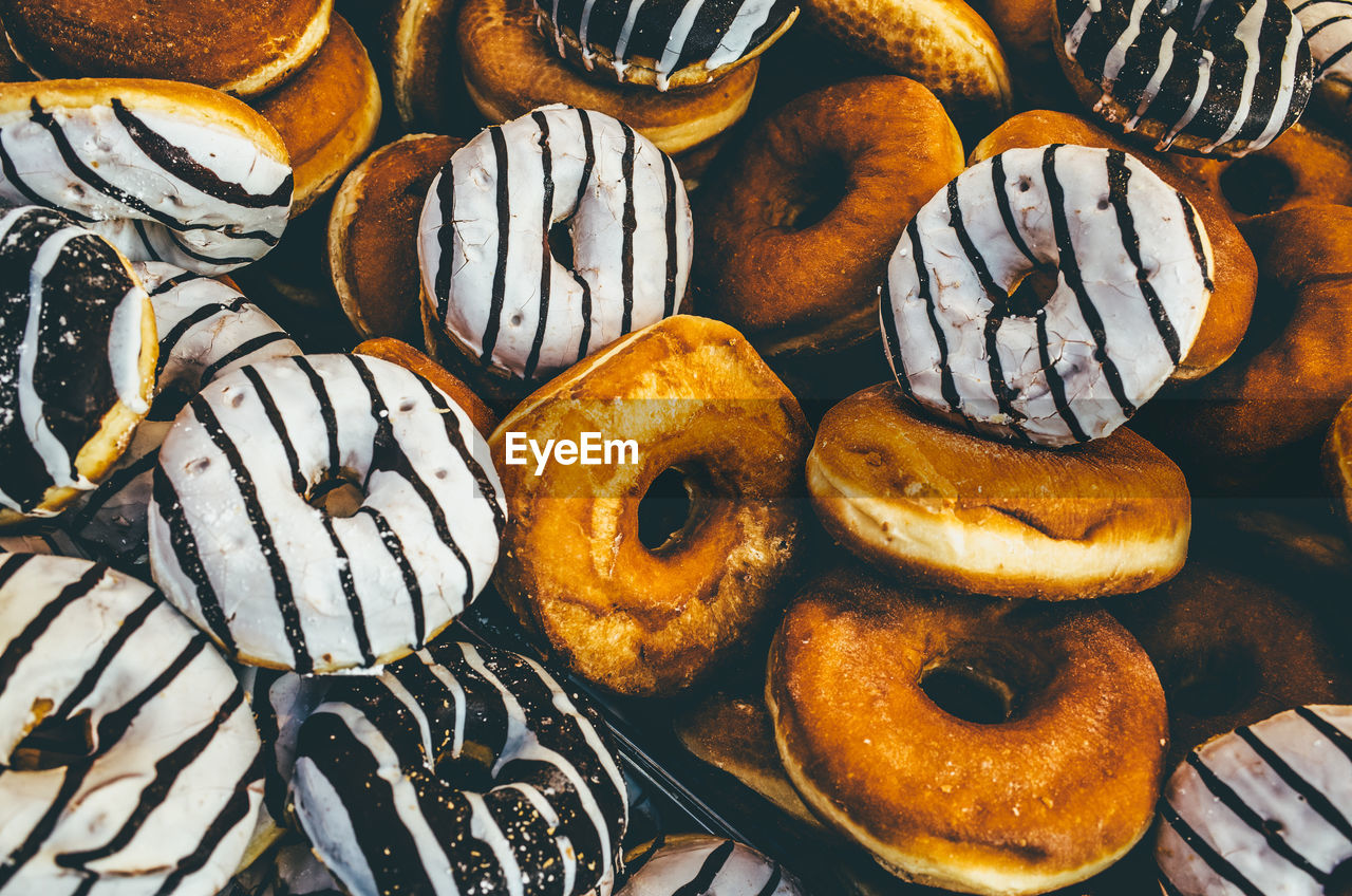 Full frame shot of donuts