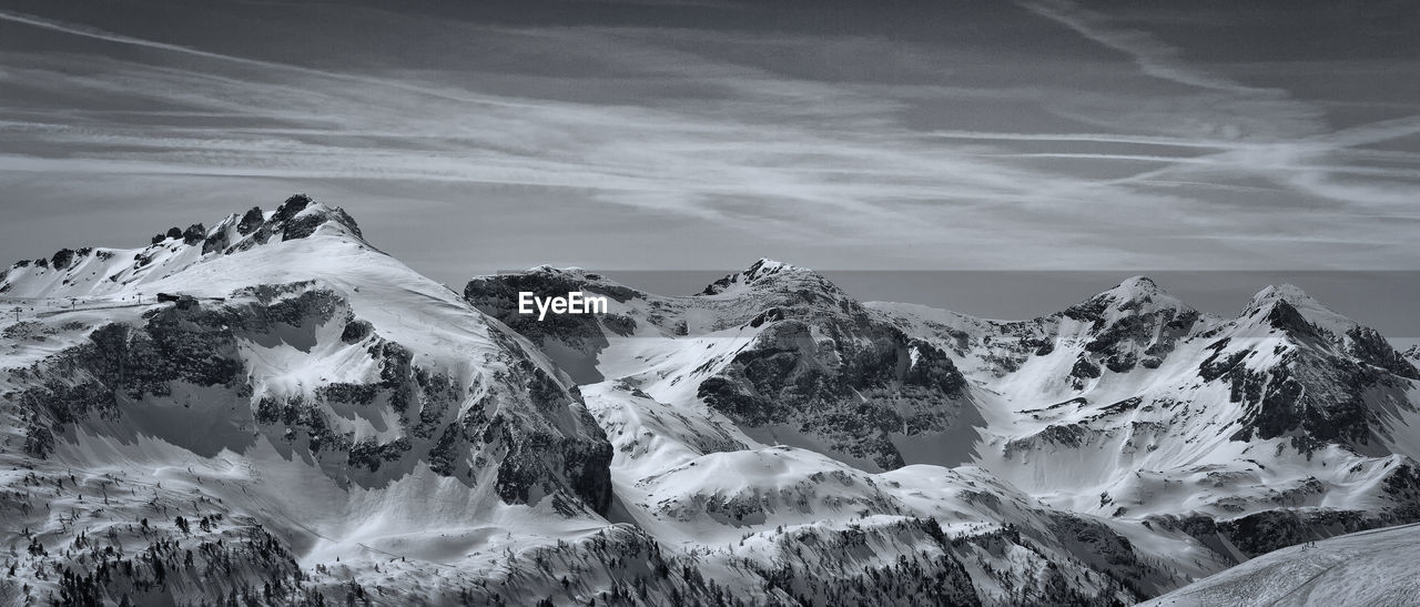 Scenic View Of Snow Covered Mountain Range
