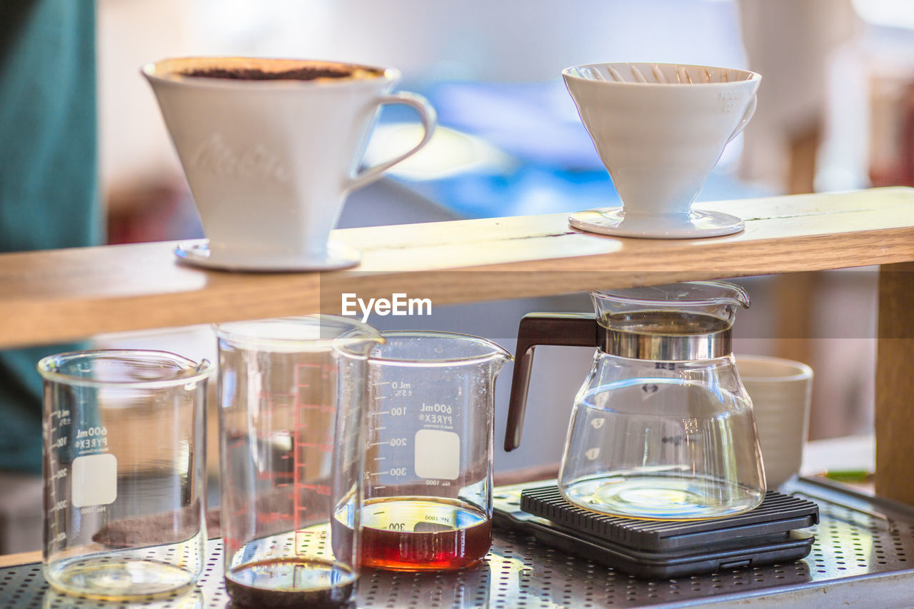 Close-up of coffee on table in cafe