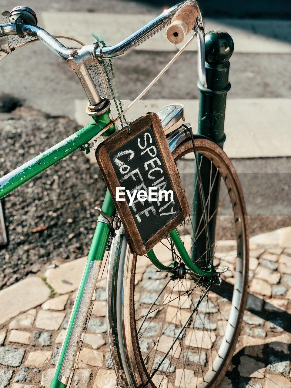 Coffeeshop bicycle