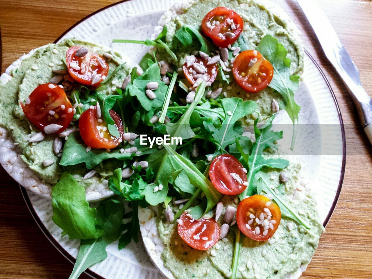 tomato, food and drink, salad, freshness, food, lettuce, no people, ready-to-eat, vegetable, cherry tomato, healthy eating, indoors, close-up, basil, day