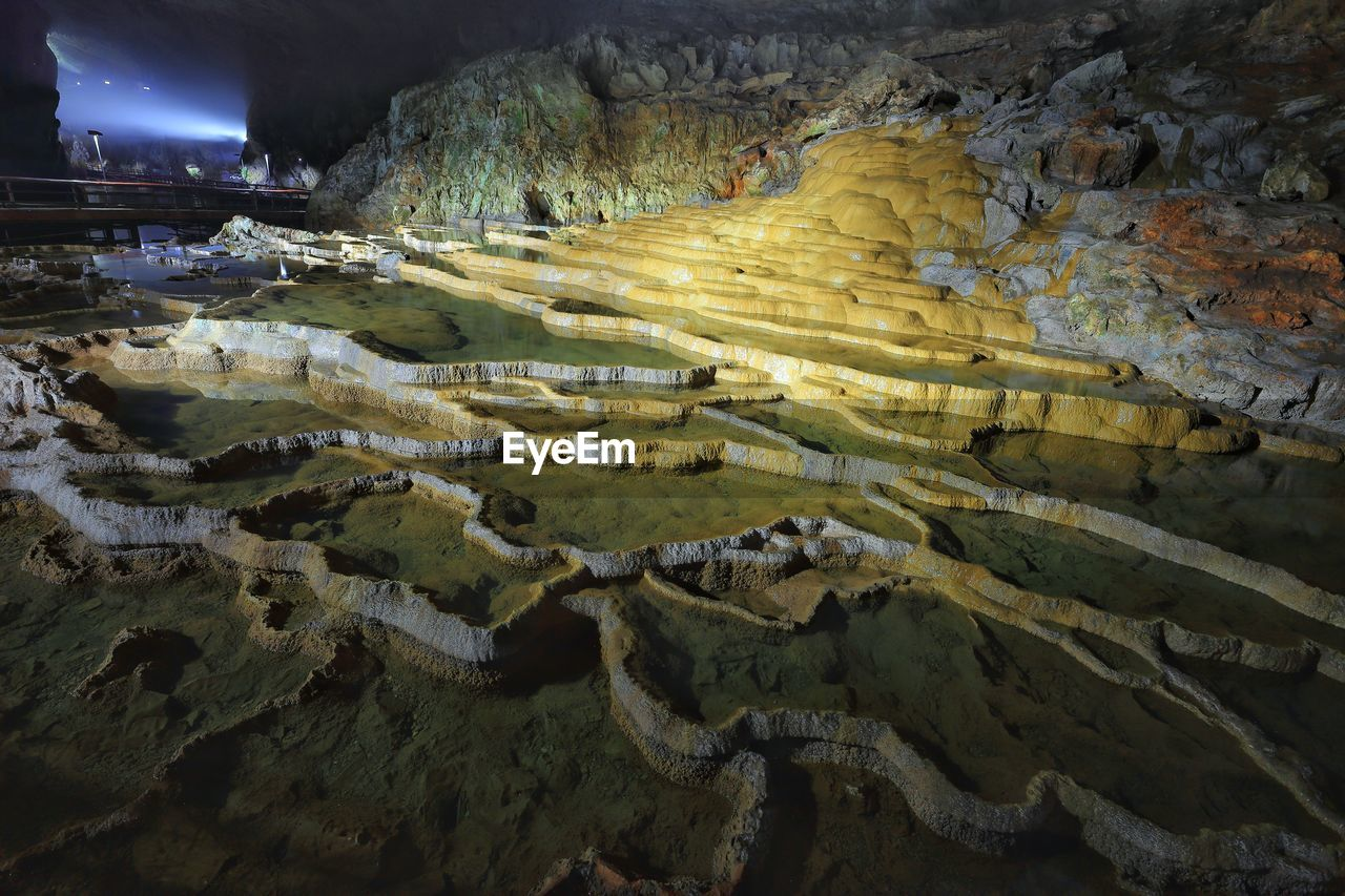 Interior Of Limestone Cave