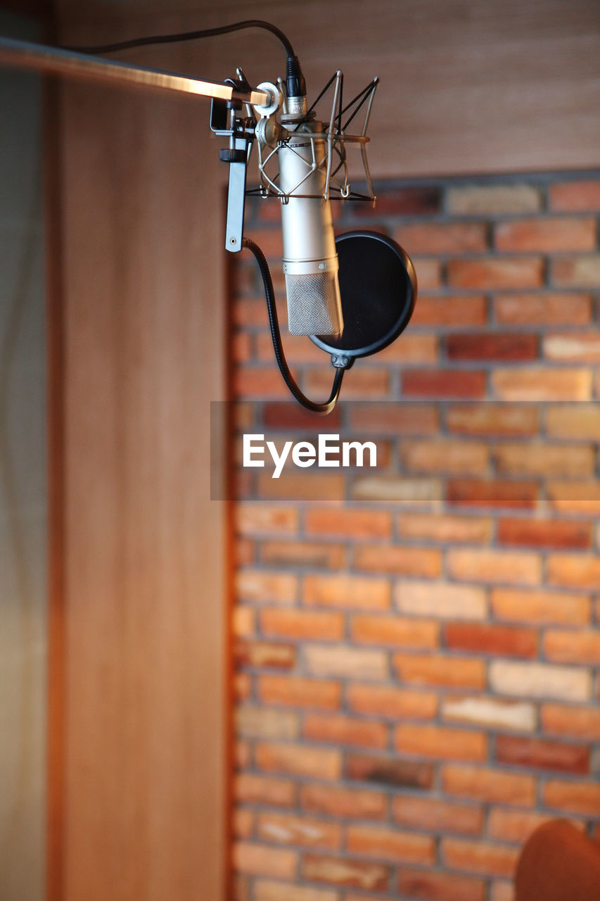 Microphone In Recording Room At Studio