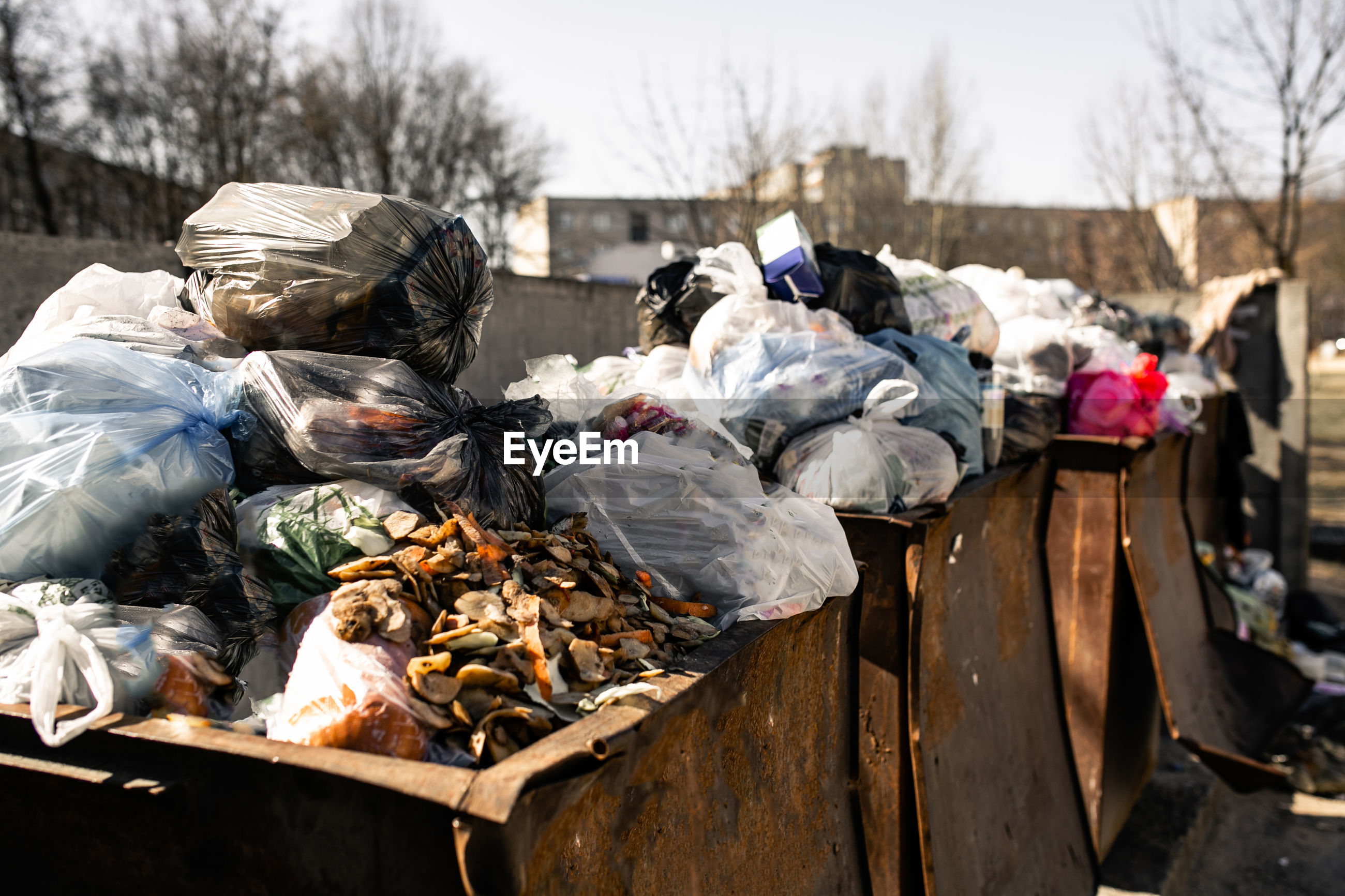 Heap of garbage outdoors