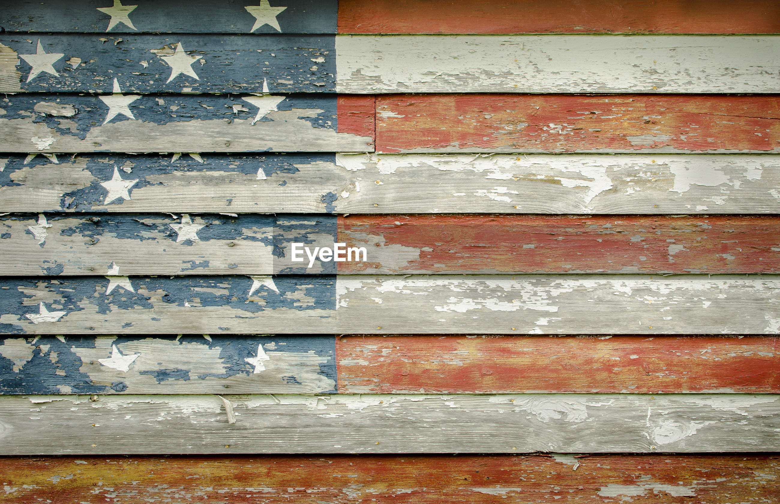 Full frame shot of wooden american flag wall