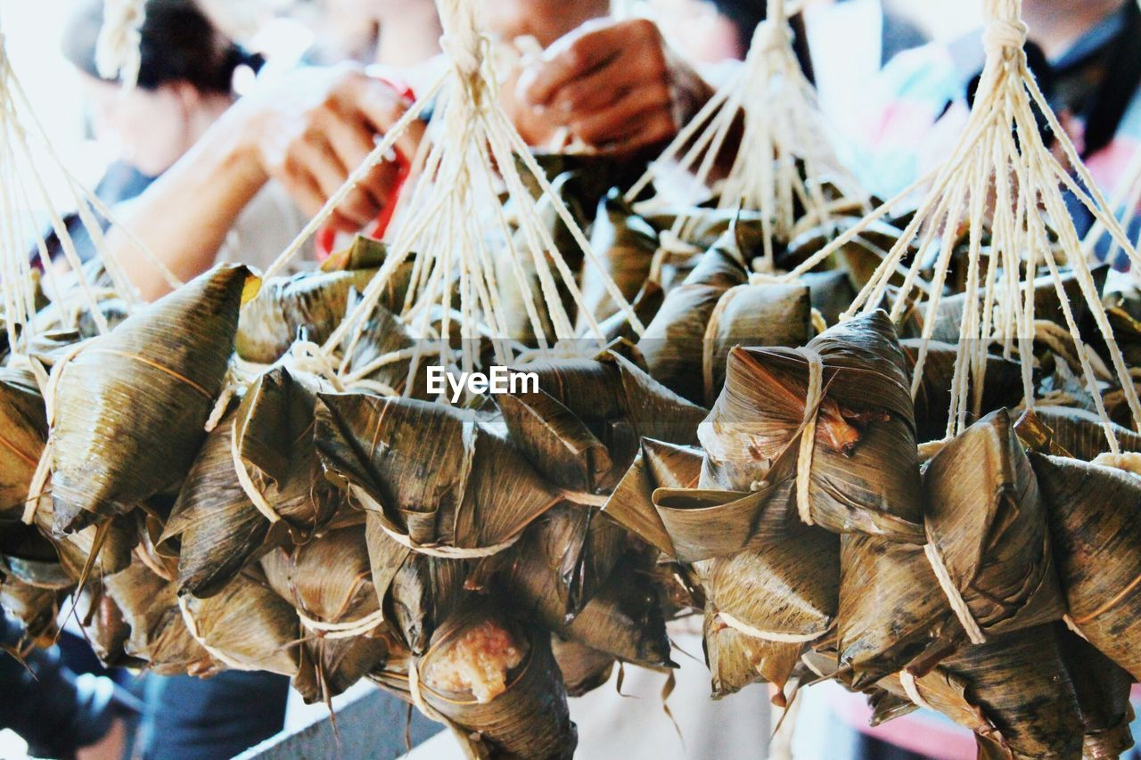 Group Of Tainan Food Tied In Dry Leaves