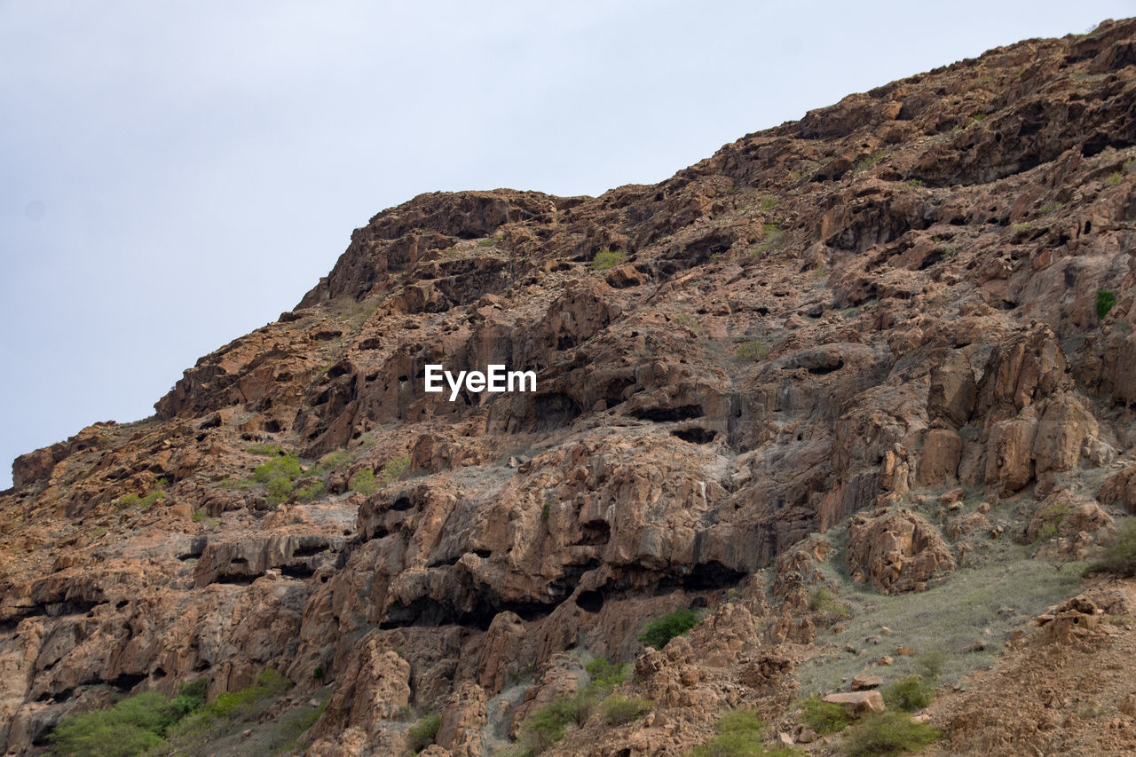 Scenic View Of Cliff Against Clear Sky