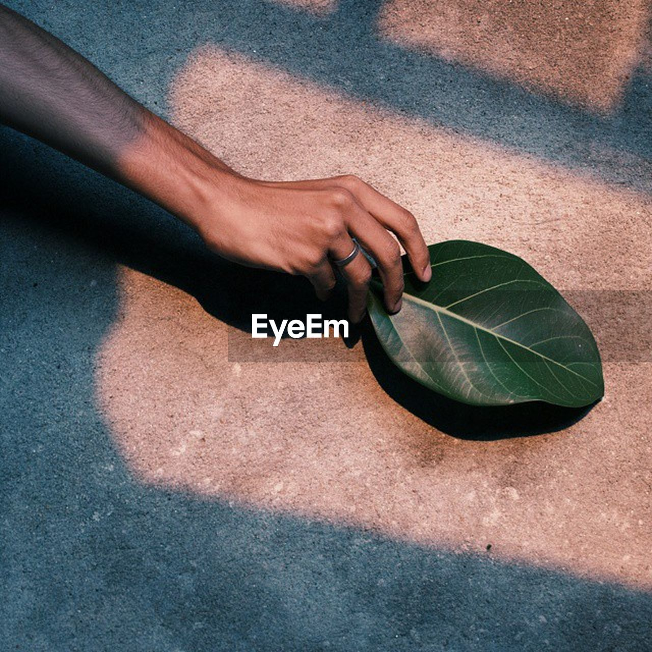 WOMAN STANDING ON LEAF