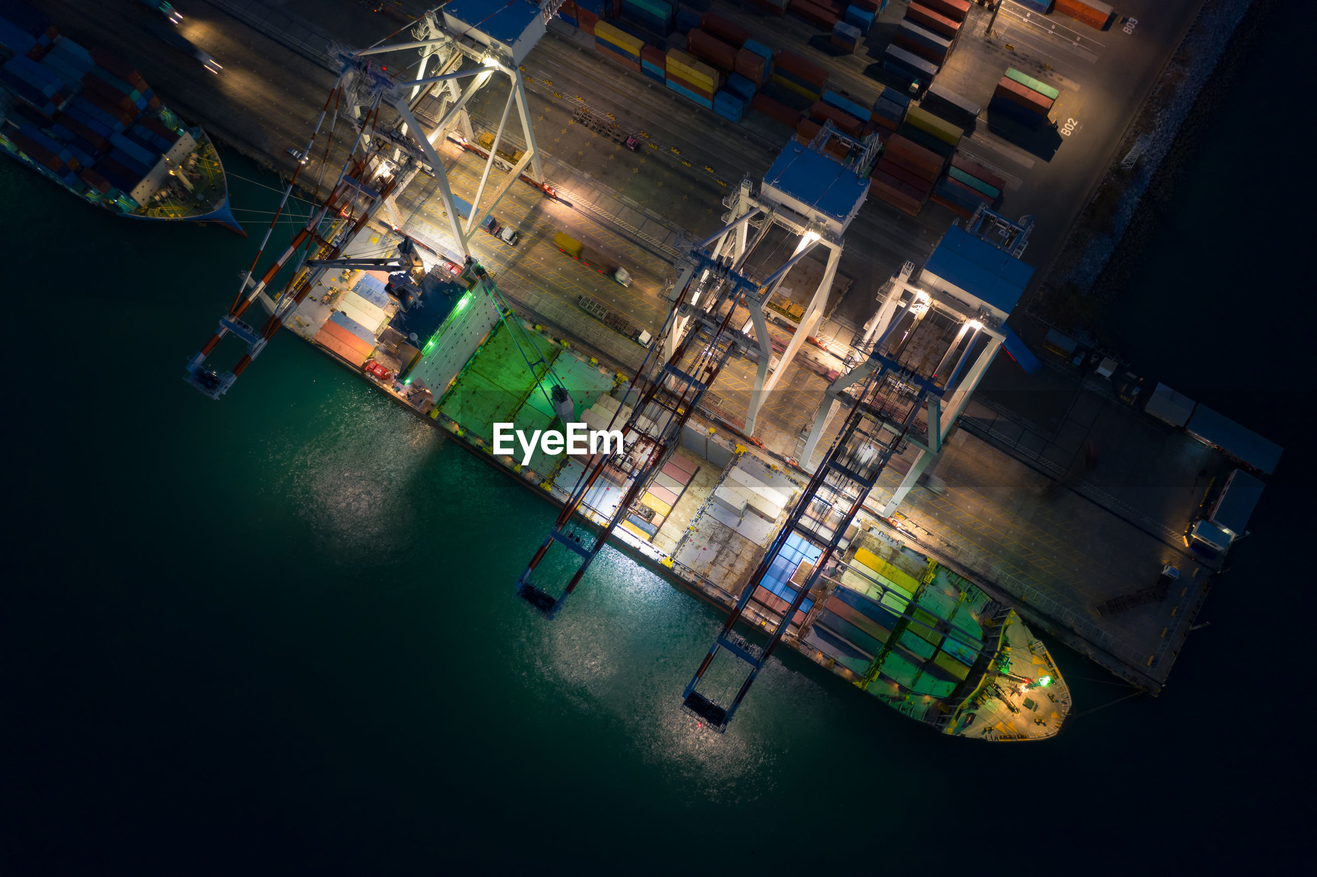 Container dock terminal and shipping container loading and unloading import export international