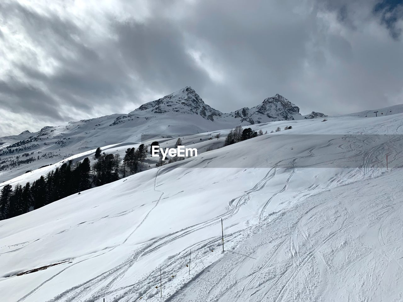 winter, cold temperature, snow, cloud - sky, sky, mountain, beauty in nature, scenics - nature, environment, snowcapped mountain, white color, tranquil scene, tranquility, landscape, nature, mountain range, day, non-urban scene, covering, no people
