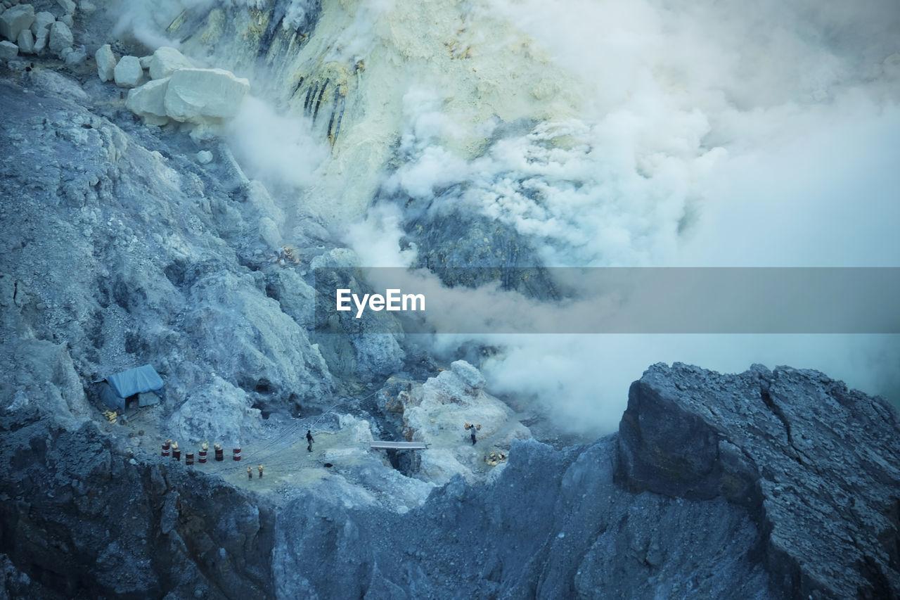 Smoke Emitting From Volcanic Mountains