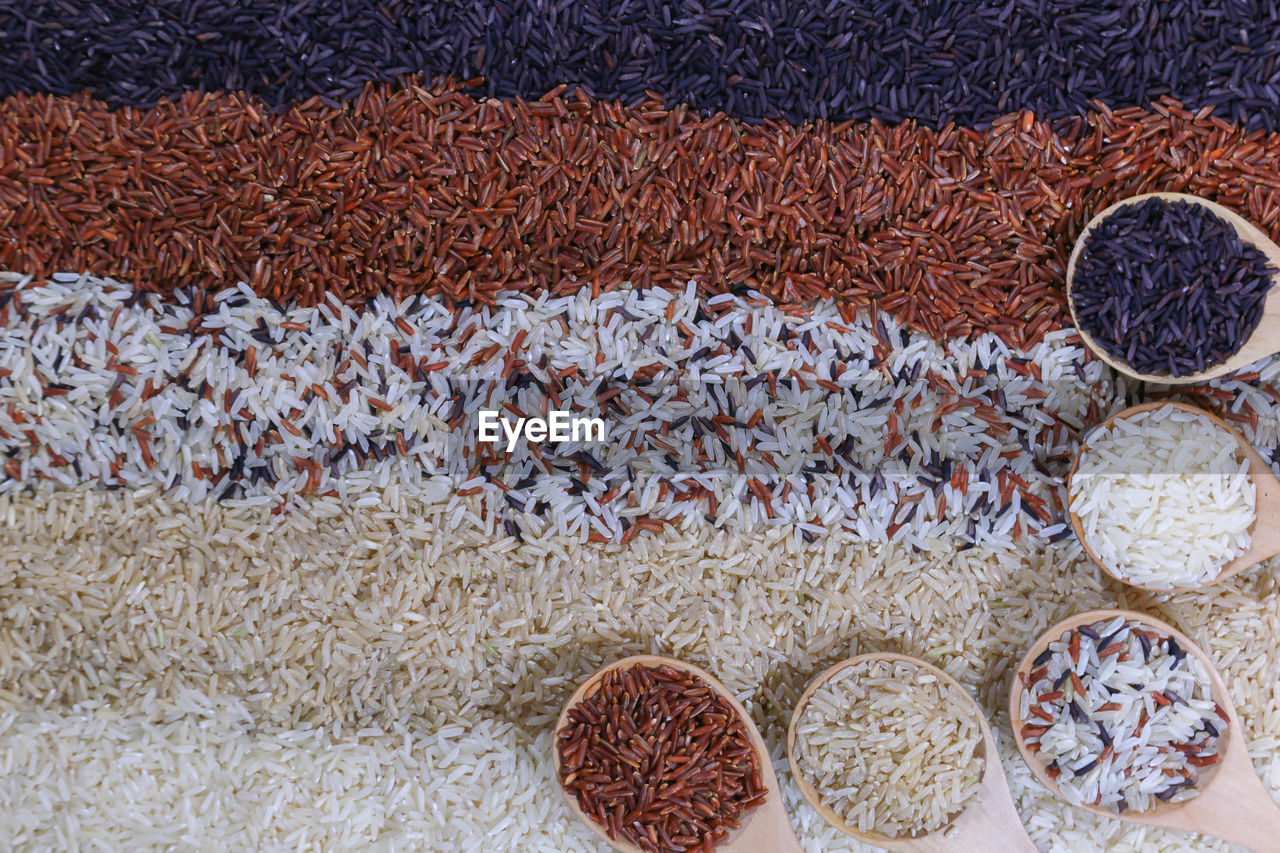 HIGH ANGLE VIEW OF DRY FRUITS IN MARKET