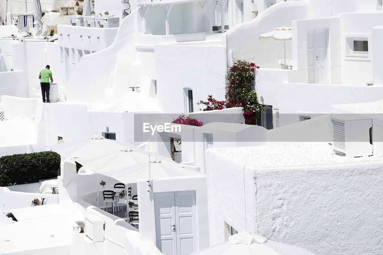 white color, whitewashed, chair, table, architecture, day, no people, outdoors, nature