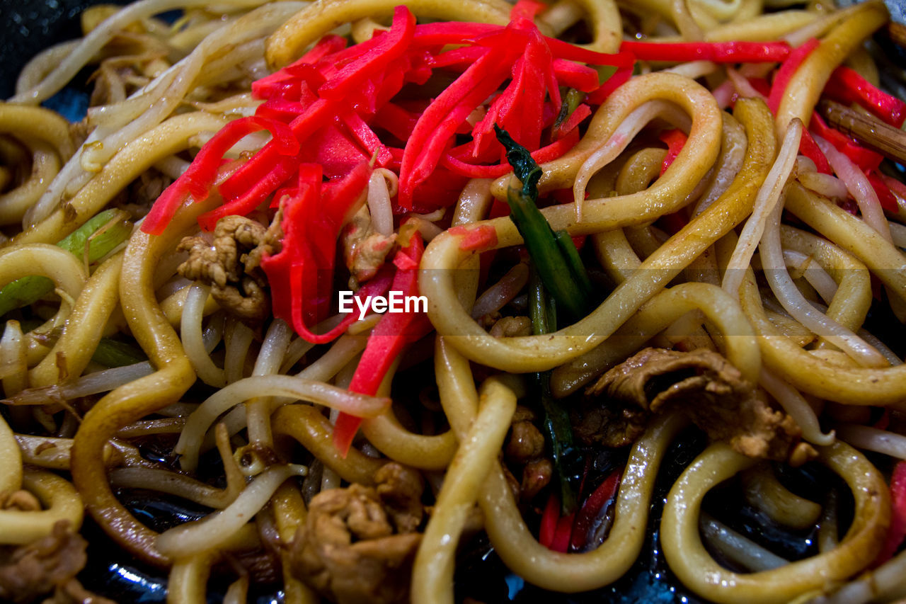 Full Frame Of Udon Noodles