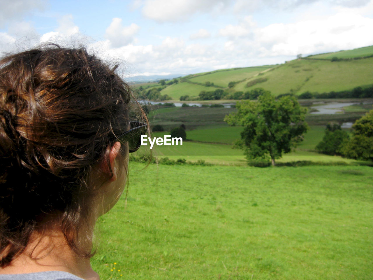 Woman Looking At Landscape