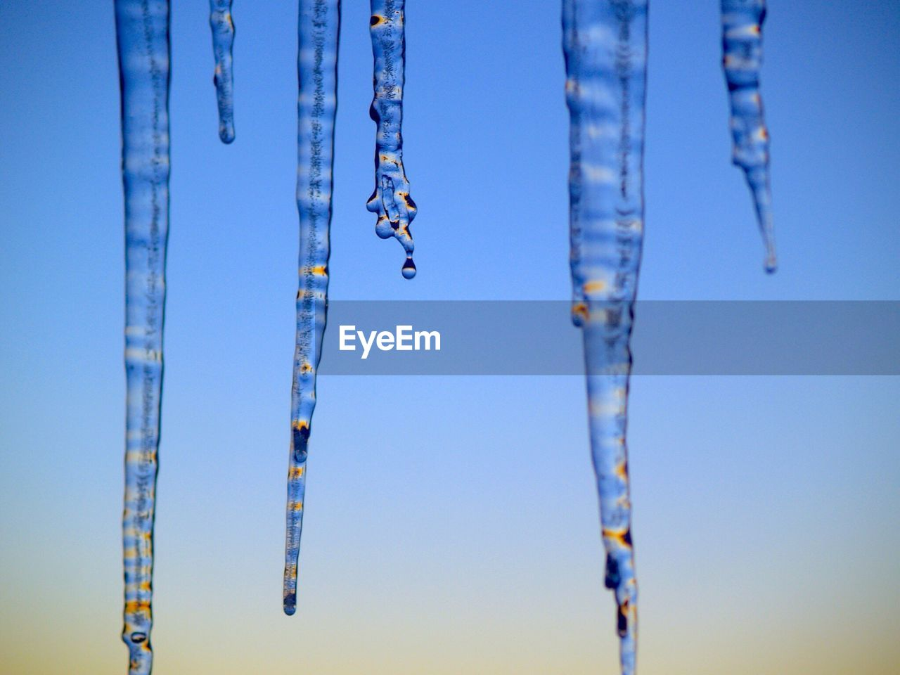 Icicles Against Blue Sky