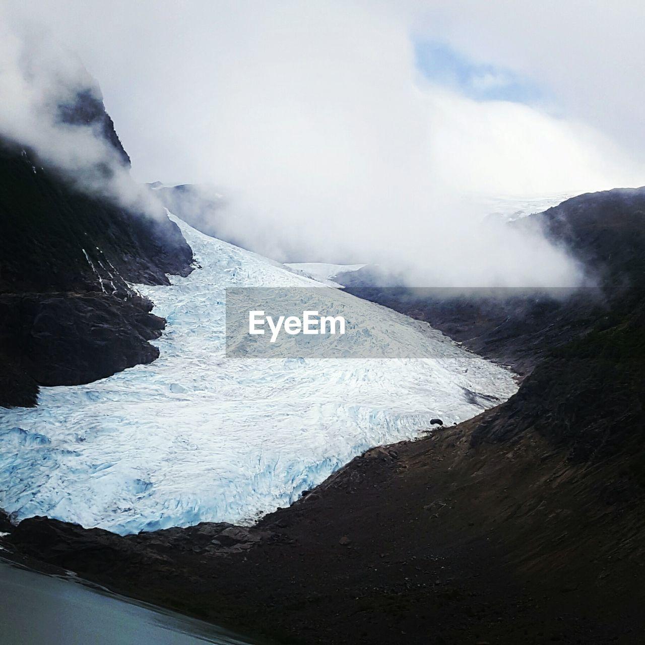 High Angle View Of Bear Glacier