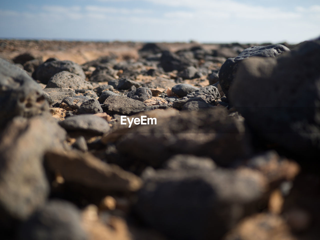 selective focus, beach, land, nature, solid, sky, rock, sea, day, rock - object, close-up, sand, no people, surface level, textured, sunlight, outdoors, scenics - nature, water, beauty in nature