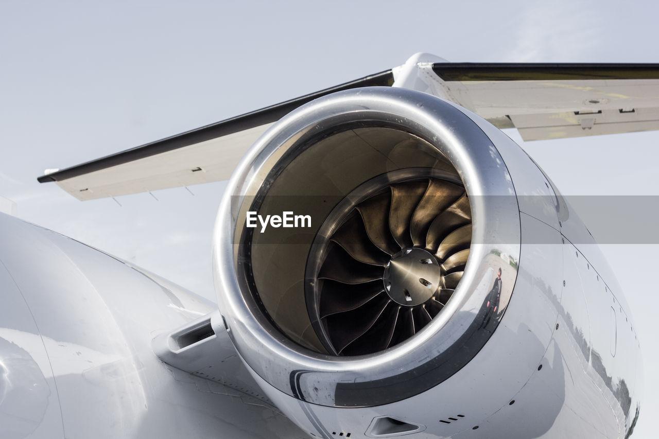 Close-Up Of Aircraft Jet Engine