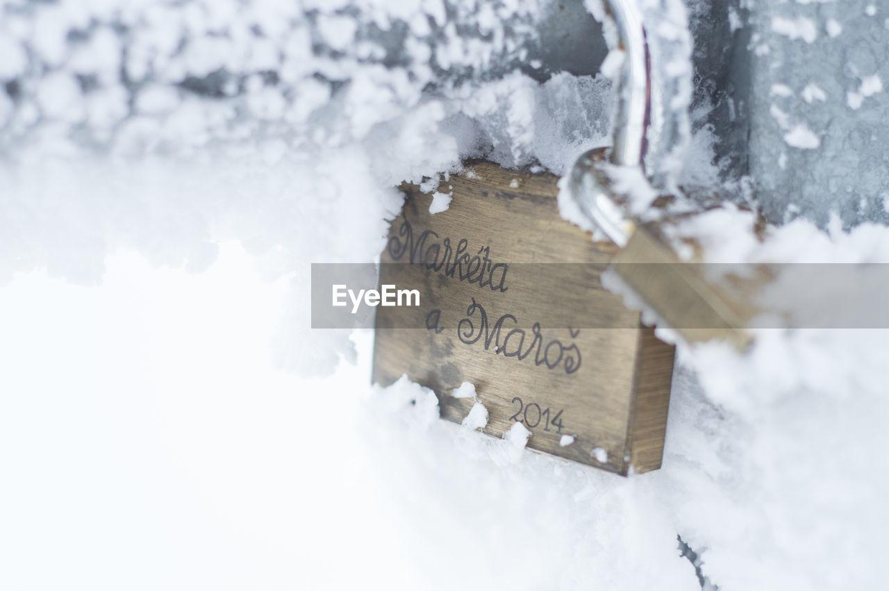 Snow Covered Love Lock