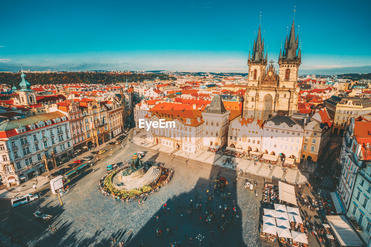 building exterior, architecture, built structure, city, sky, building, high angle view, travel destinations, cityscape, tourism, travel, nature, history, transportation, the past, place of worship, religion, crowd, day, outdoors