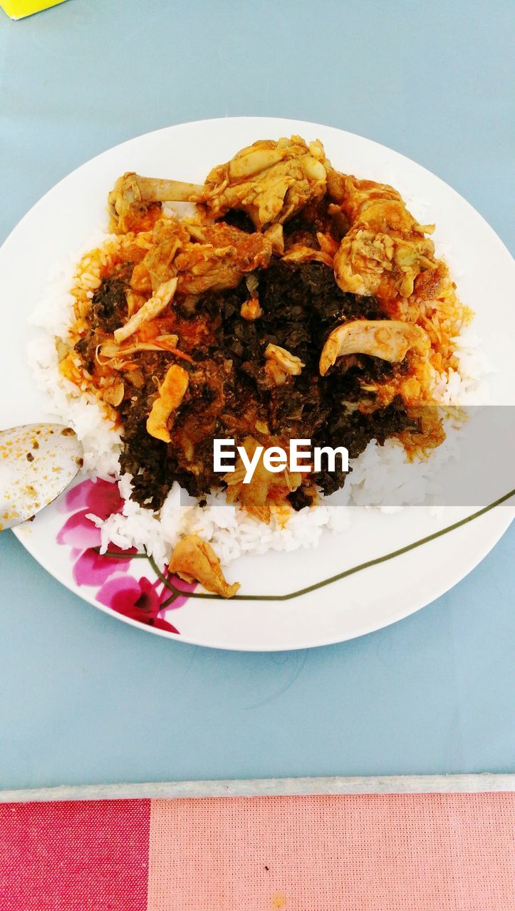 plate, ready-to-eat, food, food and drink, serving size, freshness, still life, table, indulgence, no people, indoors, close-up, rice - food staple, high angle view, temptation, healthy eating, meal, cooked, day