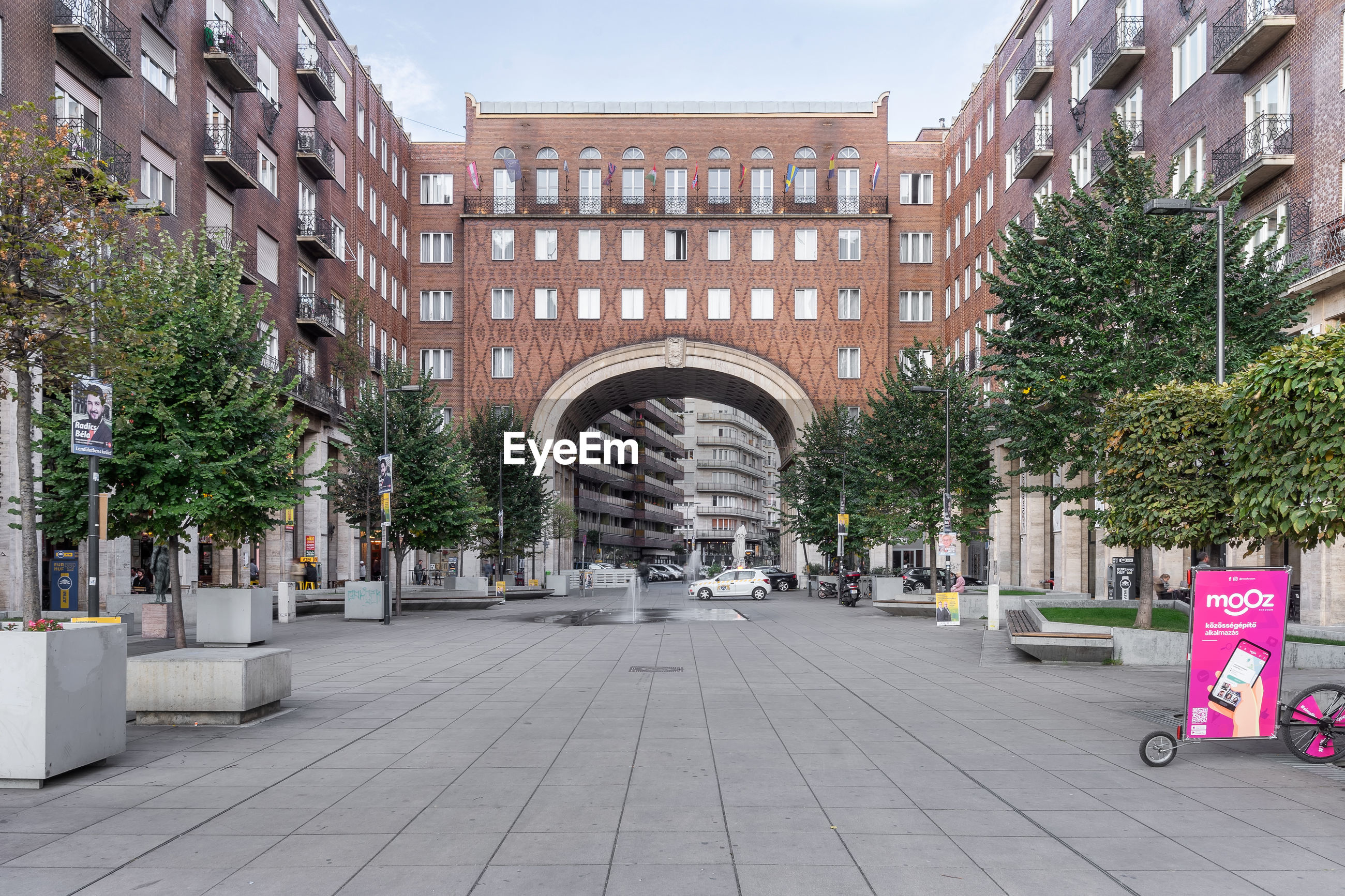 STREET AMIDST BUILDINGS