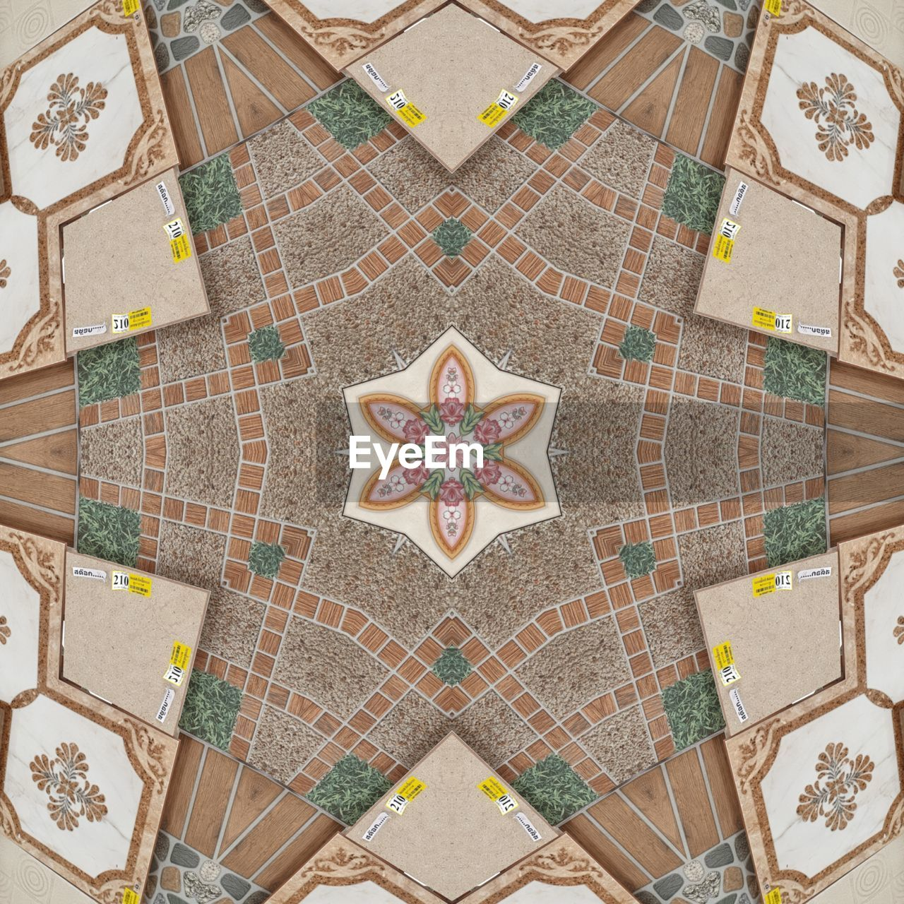pattern, design, tiled floor, high angle view, shape, tile, directly above, no people, creativity, floral pattern, flooring, star shape, indoors, holiday, art and craft, decoration, architecture, christmas