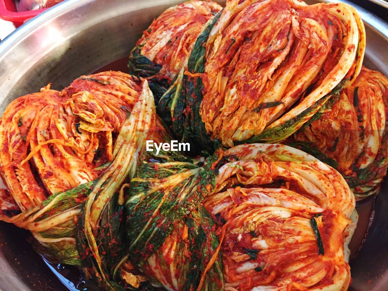 Close-Up Of Kimchi In Bowl