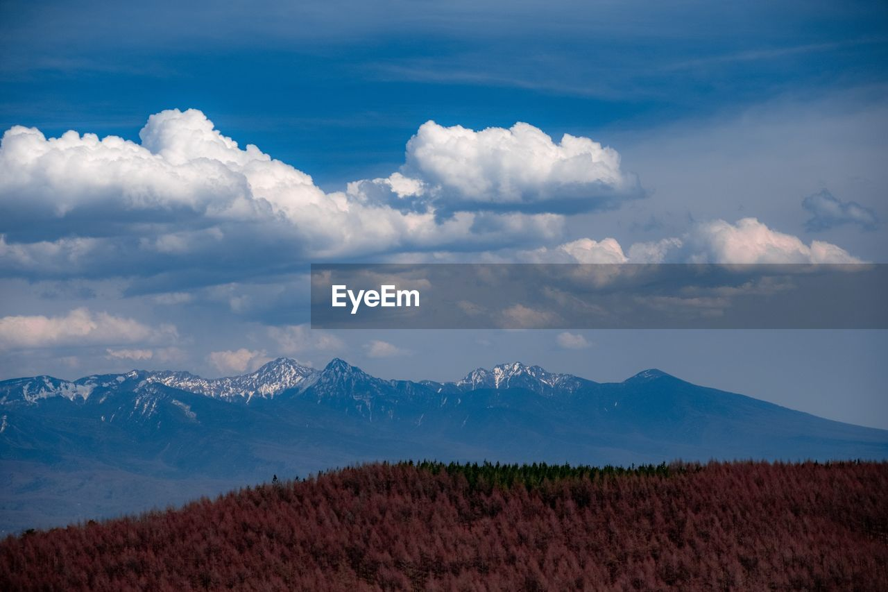 scenics - nature, cloud - sky, sky, beauty in nature, mountain, tranquil scene, tranquility, landscape, environment, mountain range, non-urban scene, no people, nature, day, land, idyllic, field, remote, plant, outdoors, snowcapped mountain