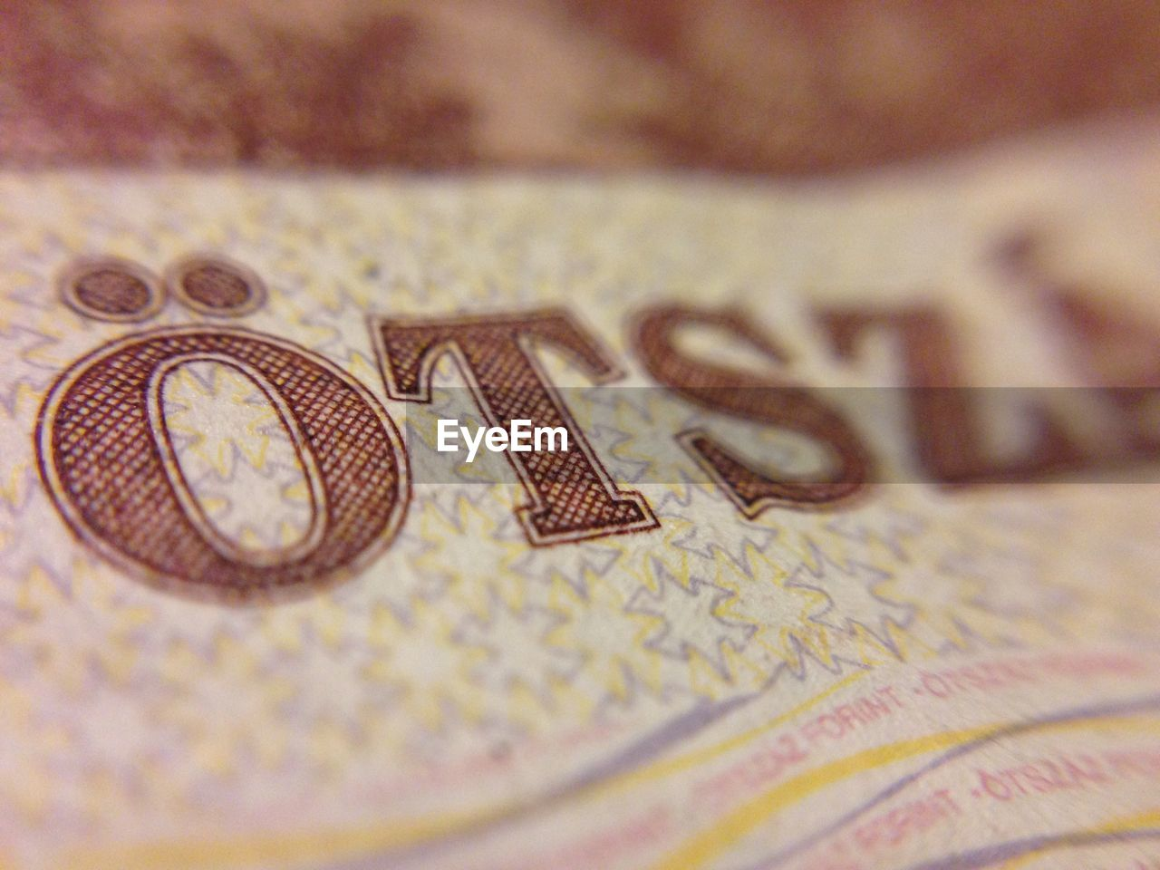 Close-Up Of Paper Currency