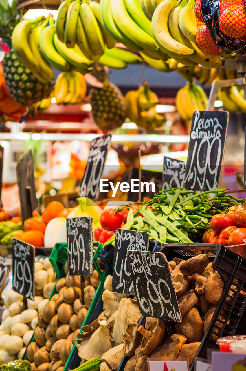Variety Of Fruits And Vegetables For Sale