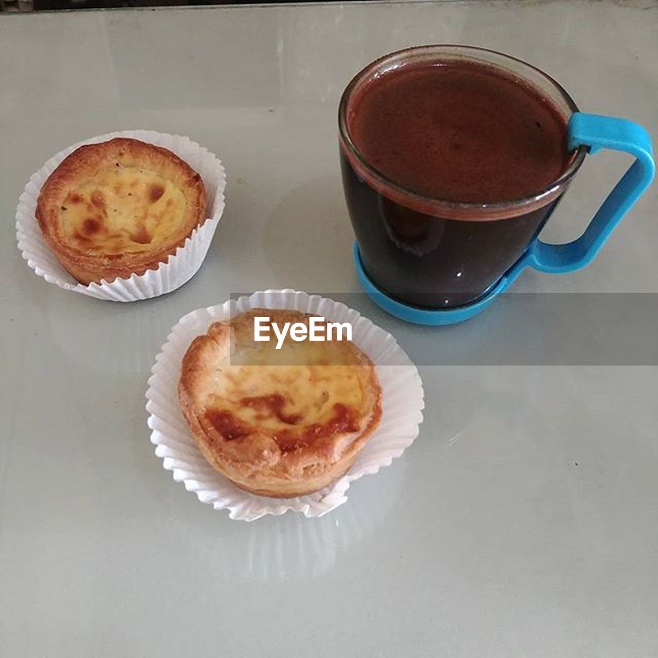 food and drink, coffee cup, table, drink, high angle view, coffee - drink, no people, food, freshness, refreshment, sweet food, indoors, bowl, dessert, tea - hot drink, ready-to-eat, cupcake, healthy eating, close-up, day