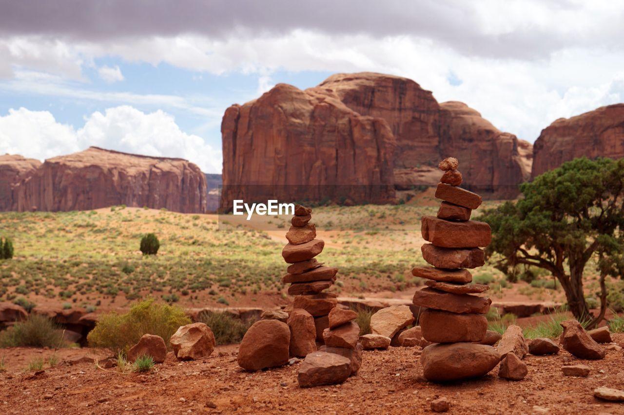 Stack Of Stones On Landscape