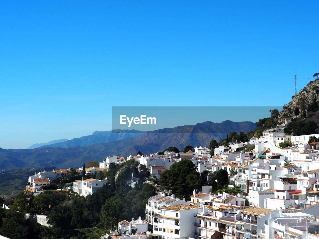 TOWNSCAPE AGAINST CLEAR SKY