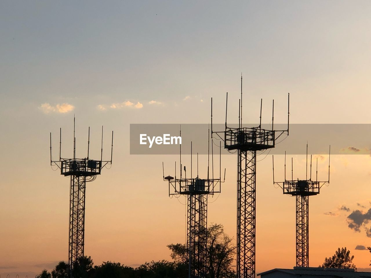 sunset, sky, tower, technology, architecture, antenna - aerial, built structure, communication, tall - high, nature, no people, global communications, connection, silhouette, telecommunications equipment, satellite, wireless technology, orange color, broadcasting, outdoors, radio wave