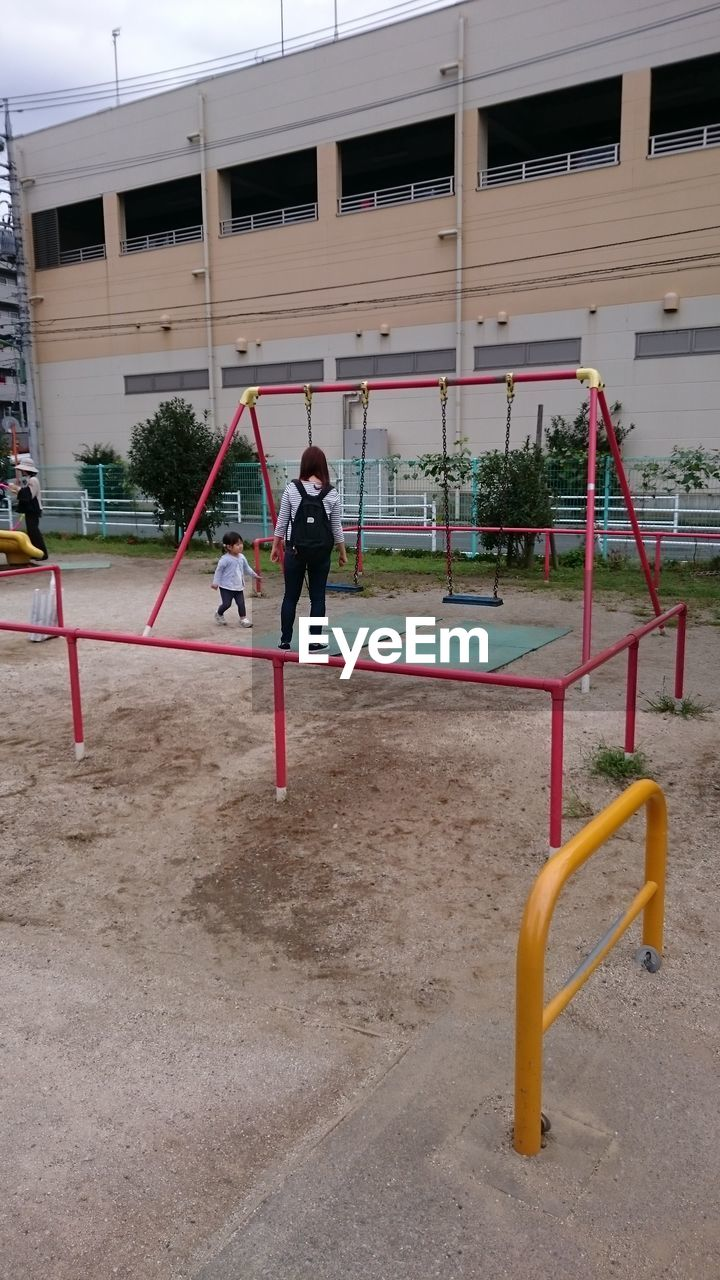playground, childhood, playing, fun, full length, real people, leisure activity, outdoors, lifestyles, day, one person, people