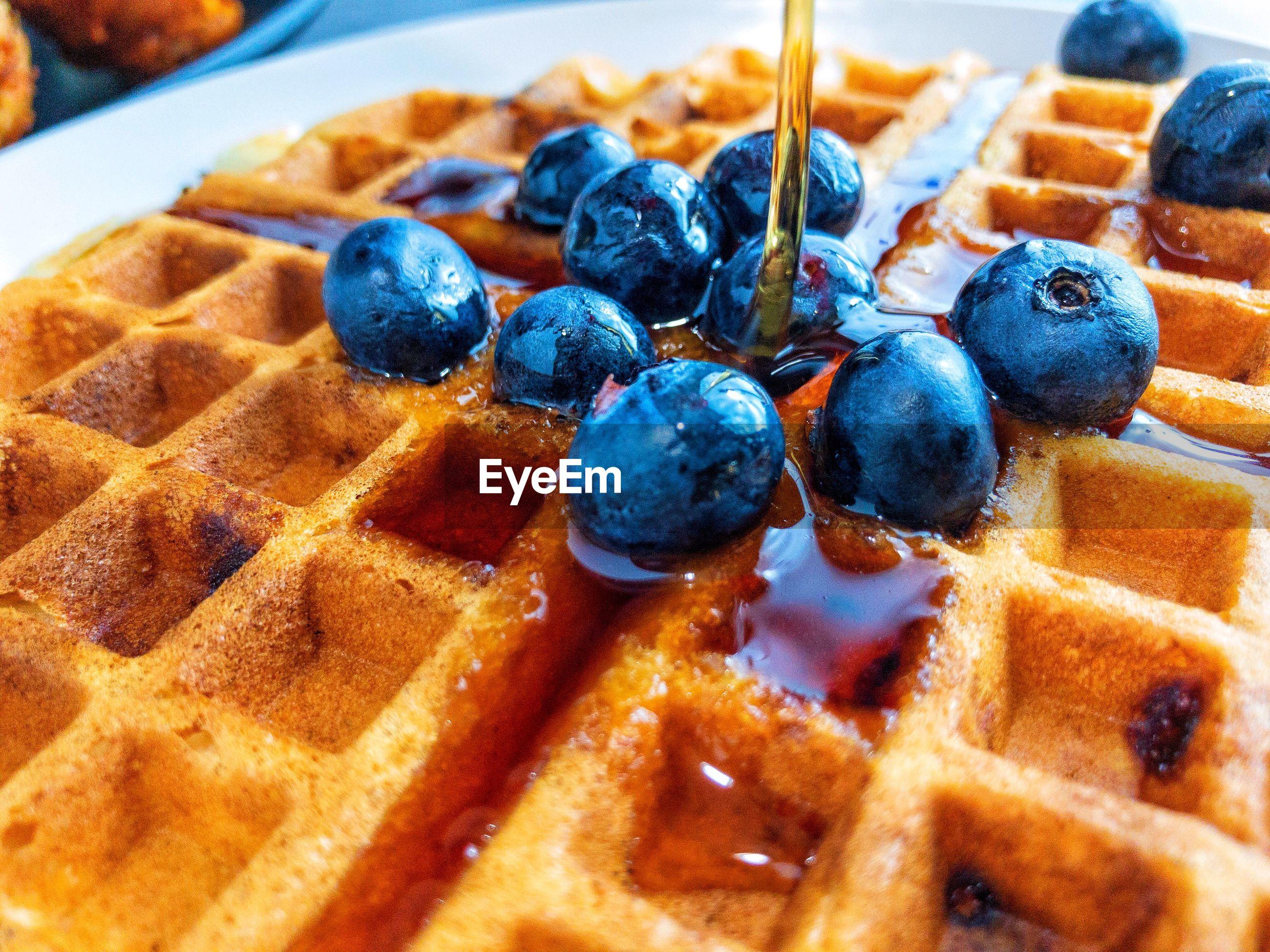 Close-up of waffle
