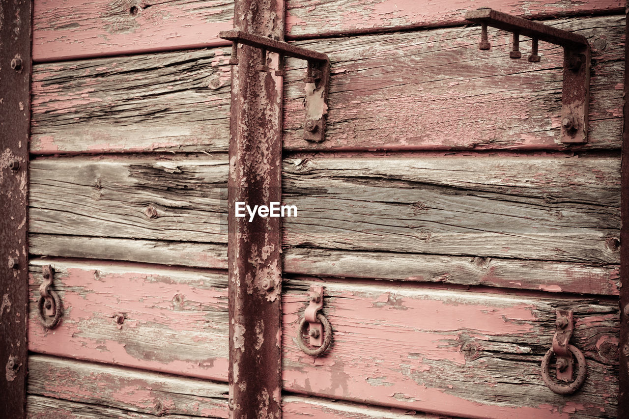 wood - material, backgrounds, full frame, old, entrance, weathered, door, no people, textured, close-up, day, metal, pattern, damaged, safety, protection, security, closed, built structure, architecture, wood, deterioration, latch, textured effect