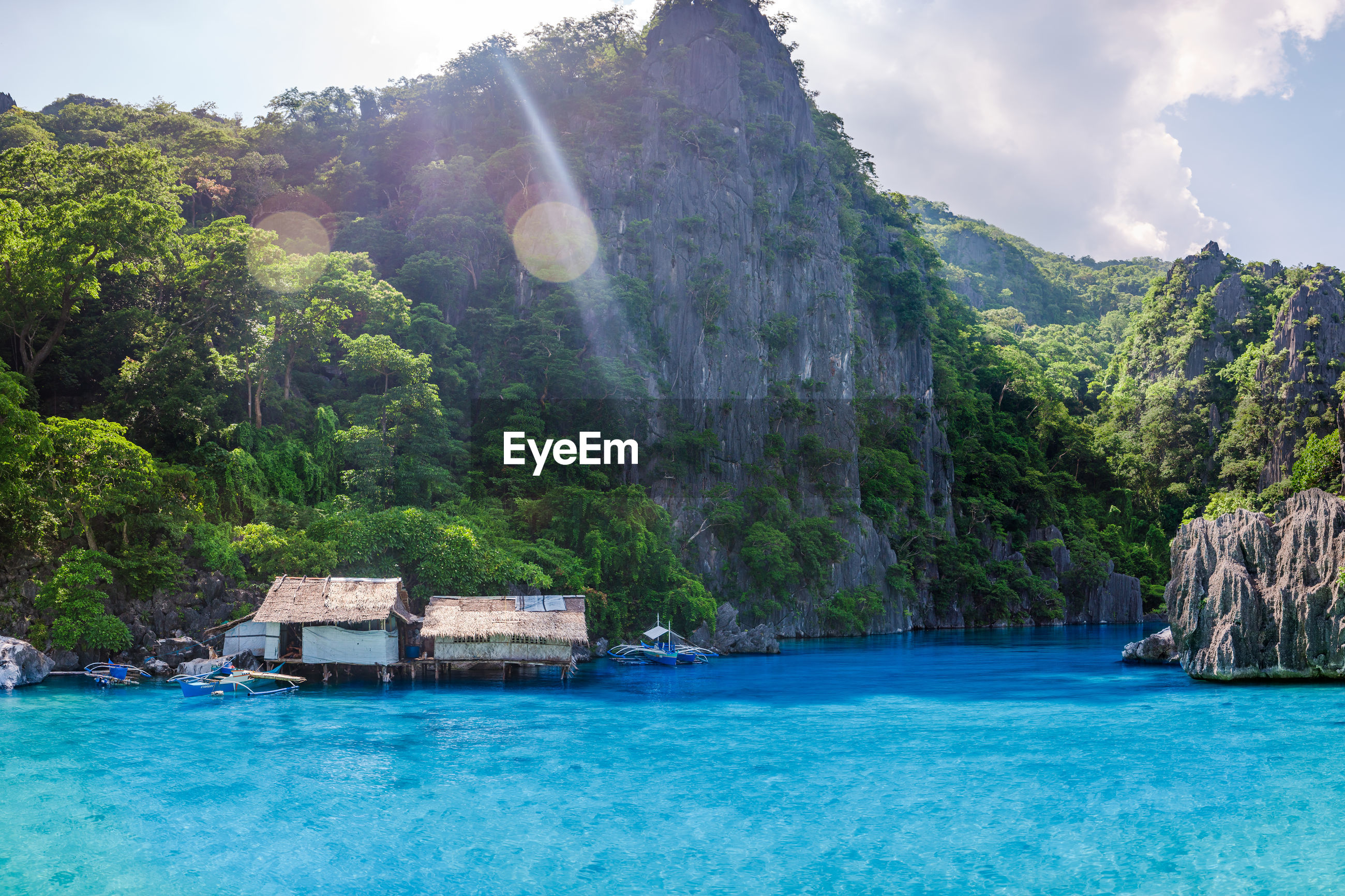 Clear blue waters of coron, palawan, philippines.