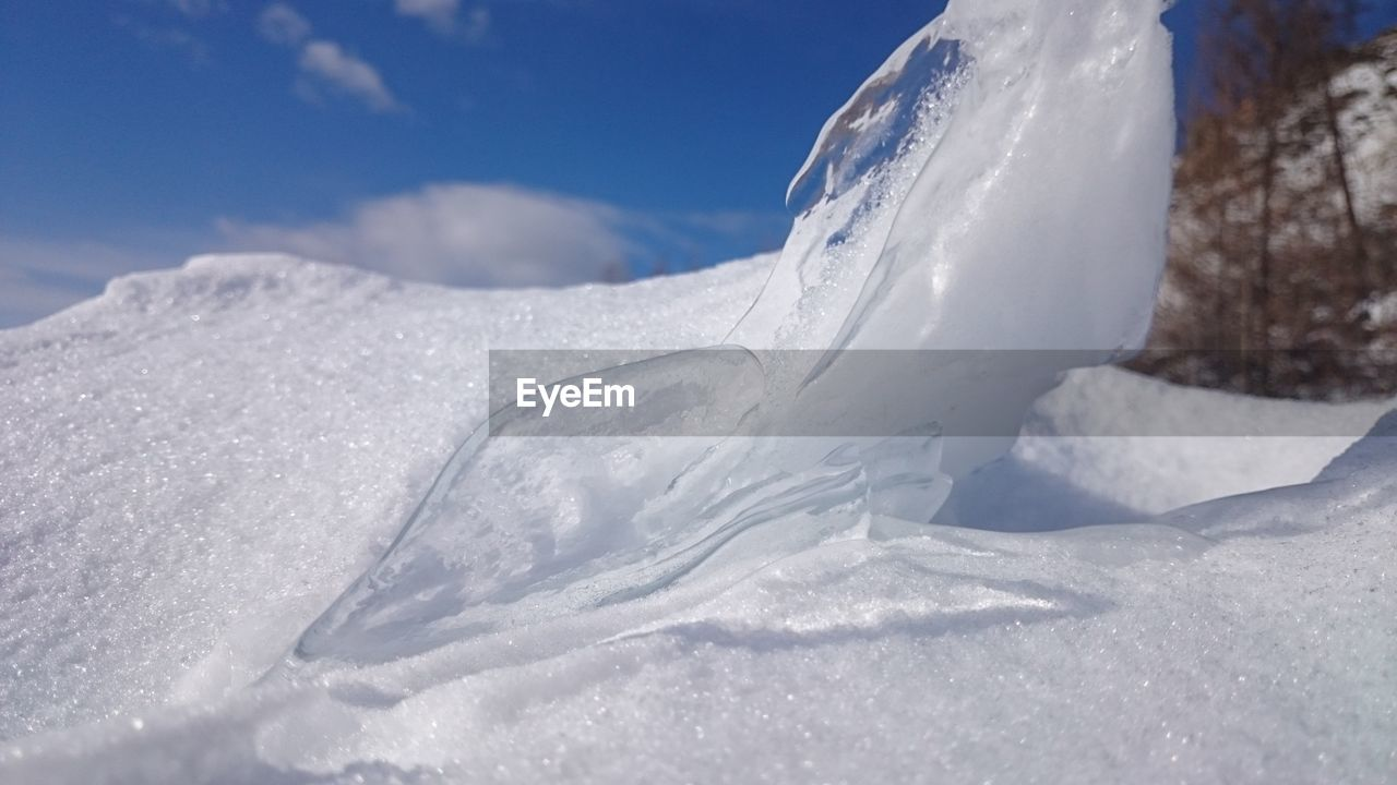 snow, winter, cold temperature, nature, white color, tranquility, no people, sky, beauty in nature, day, outdoors, tranquil scene, landscape, scenics, close-up, iceberg