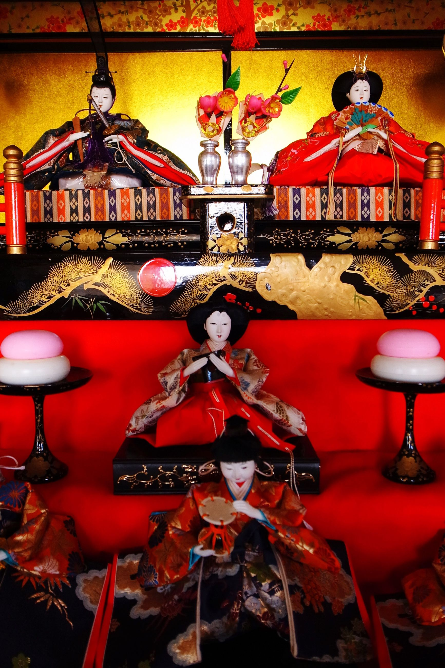 religion, spirituality, decoration, red, hanging, illuminated, indoors, place of worship, tradition, lantern, lighting equipment, ornate, cultures, built structure, architecture, art and craft, art, temple - building, decor